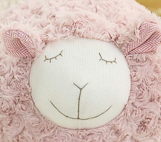 【3色】圓滾滾睡覺羊玩偶 安撫枕頭 仿真抱枕 聖誕禮物交換禮物 生日禮物 尾牙抽獎 辦公療癒小物