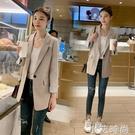 2020春季韓版修身顯瘦氣質女裝上衣網紅中長款小西服西裝外套女 小艾新品