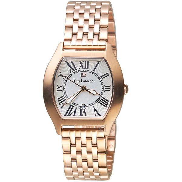 姬龍雪Guy Laroche Timepieces古典羅馬女錶 LW5047B-04 玫瑰金