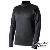 PolarStar 中性 高領拉鍊保暖衣『黑』P19215 上衣 男版 休閒 戶外 登山 吸濕排汗 透氣