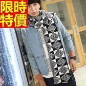 羊毛圍巾-拼色創意針織秋冬保暖加厚圍脖3色64t21[巴黎精品]