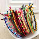 【01257】 彩色手工編織麻花辮髮繩 髮圈《FM-Z3039》