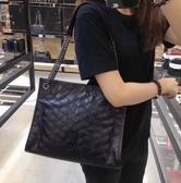 ■專櫃83折■Saint Laurent  專櫃真品 聖羅蘭 YSL 大款Niki 復古小羊皮銀鍊購物袋 黑色