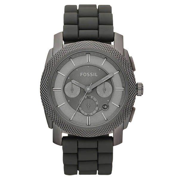 FOSSIL 絕讚霸氣視覺三眼計時腕錶(灰)