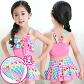 女童泳衣 分體性感寶寶公主裙式褲小中大童游泳衣泳裝 兒童比基尼   魔法鞋櫃