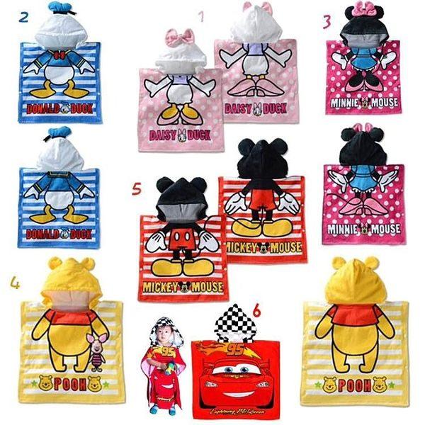 【發現。好貨】卡通迪士尼造型浴巾 寶寶遊泳必備 造型沙灘巾