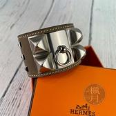 BRAND楓月 HERMES 愛馬仕 Y刻 大象灰 銀釦 CDC 手環 尺寸T2