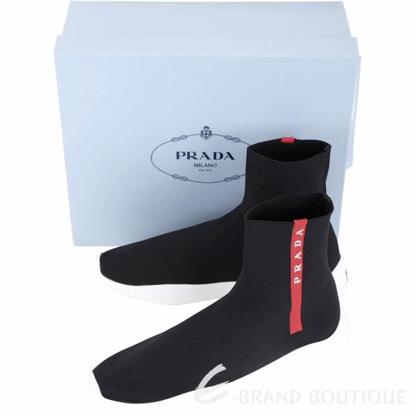 PRADA 彈性面料襪套運動鞋(女款/黑色) 1840578-01