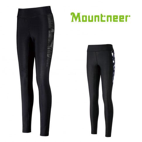 丹大戶外【Mountneer】山林休閒 中性輕壓力貼腿褲 31S09 黑灰 / 深灰藍