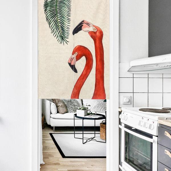 可愛時尚棉麻門簾607 廚房半簾 咖啡簾 窗幔簾 穿杆簾 風水簾 (85cm寬*120cm高)
