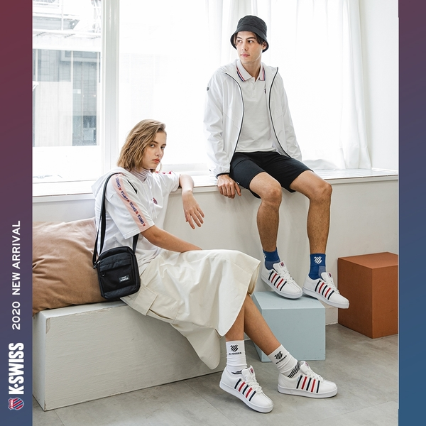 K-SWISS KS USA Tee印花短袖T恤-男-藍