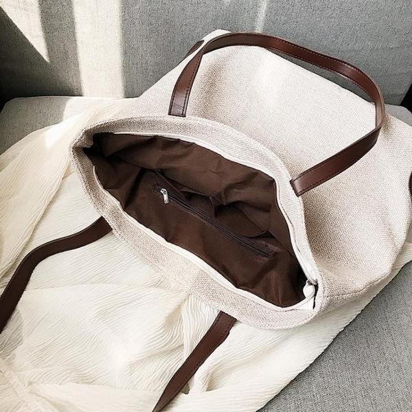 帆布包ins大容量休閒文藝森繫托特包手提側背購物袋2020新款女包 裝飾界