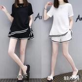 新款孕婦套裝 夏季雪紡兩件套外出韓版短褲短袖休閒套裝  yu4032『俏美人大尺碼』