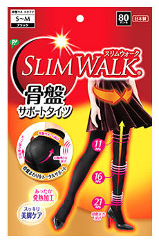 日本Slim Walk骨盤秋冬發熱11hpa 16hpa 21hpa提臀美腳褲襪S~M /M~L 2款可選【JE精品美妝】