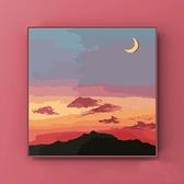 數字油畫diy畫畫手工風景畫客廳臥室裝飾畫唯美填色畫手繪油彩畫【風之海】