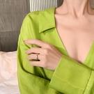 簡約玫瑰金戒指女時尚