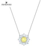施華洛世奇 Sunshine 玫金色溫暖太陽黃鑽項鏈