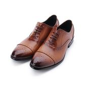 BABYLON 真皮雕花牛津紳仕皮鞋 棕 14028 男鞋 鞋全家福