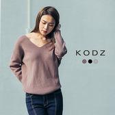 東京著衣【KODZ】歐美爆款美背大扭結多色毛衣-S.M.L(171846)