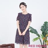 【RED HOUSE 蕾赫斯】小花雪紡洋裝(藍色)