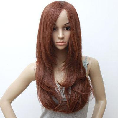高仿真超自然整頂假髮【MA126】中斜分瀏海長髮☆雙兒網☆