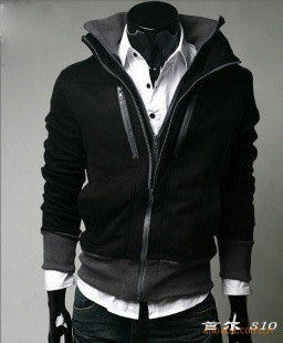 外衣 英倫風雙領雙拉修身短外套衛衣