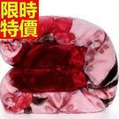 毛毯子冬款休閒-法蘭絨植物花卉加厚小毯被6色64d4【時尚巴黎】