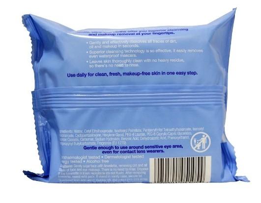 Neutrogena, Makeup Remover Cleansing 露得清 卸妝巾 潔面巾 25入