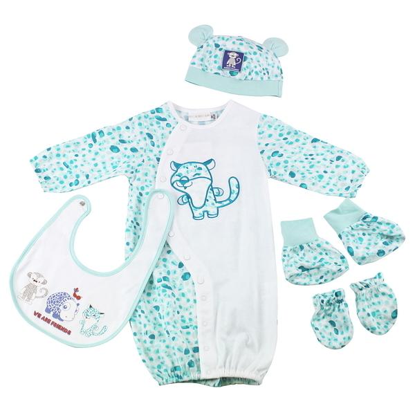 【愛的世界】斑點兩用嬰衣禮盒/3~6個月-台灣製-  ---禮盒推薦