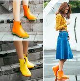 女韓款平跟防滑短筒雨靴Eb12993『小美日記』