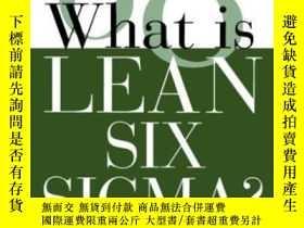 二手書博民逛書店What罕見Is Lean Six SigmaY255562 M