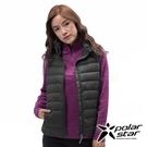 PolarStar 女 輕量羽絨背心『黑色』 P18240 戶外 休閒 登山 露營 保暖 禦寒 防風 鋪棉 羽絨 夾克