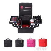 專業化妝箱包手提大容量多層美甲美發美容紋繡工具箱化妝品收納包   草莓妞妞