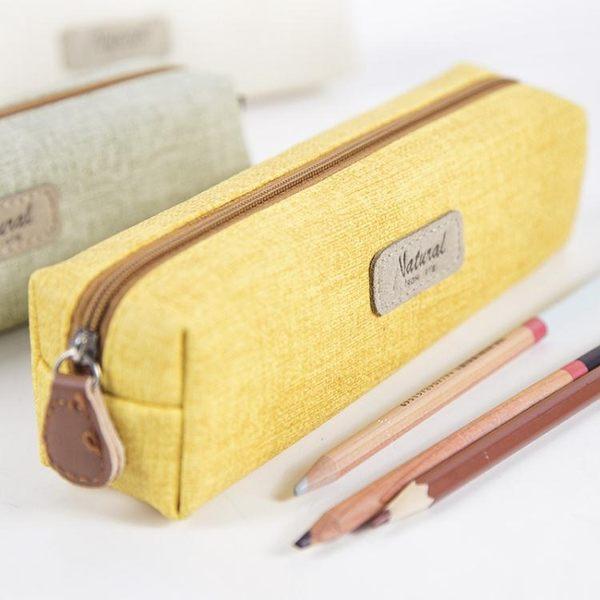 創意簡約鉛筆盒學生純色筆袋女
