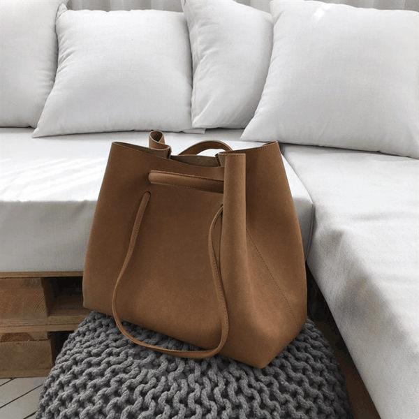 大包包2019新款韓版ins托特包復古手提百搭磨砂大包大容量子母包 森活雜貨