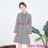 【RED HOUSE 蕾赫斯】格紋襯衫洋裝(黑色)