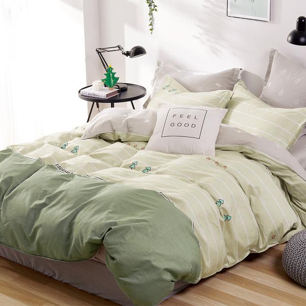 床包 / 雙人【小松柏】含兩件枕套  100%精梳純棉  戀家小舖台灣製