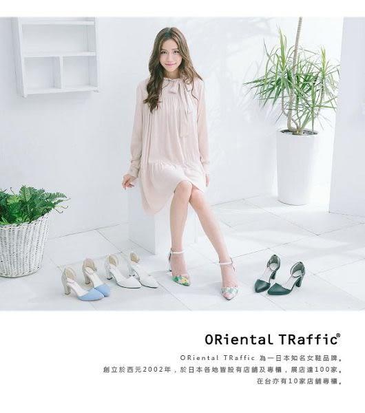 【ORiental TRaffic】時尚尖頭繞踝瑪麗珍鞋-繽紛彩虹