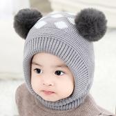 寶寶帽子秋冬季加絨保暖嬰兒帽1護耳一體帽男童針織帽3兒童毛線帽 【快速出貨】