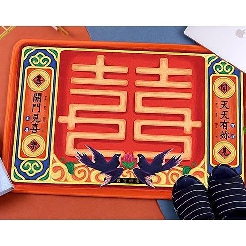 【培菓幸福寵物專營店】防滑門墊地墊50*80cm(開門見喜|家財萬貫|步步生蓮)
