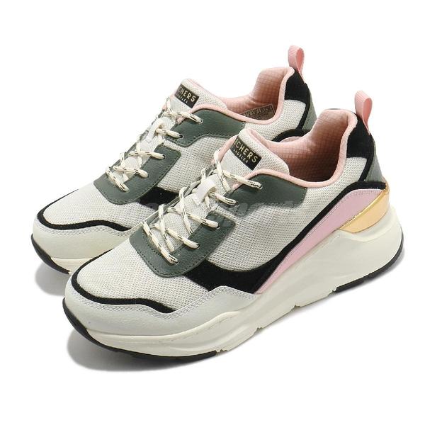 Skechers 休閒鞋 Rovina-Chic Shattering 米 綠 粉 女鞋 復古慢跑鞋 老爹鞋 運動鞋 【ACS】 155011OFPK