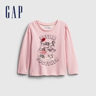 Gap女幼童 Gap x Disney 迪士尼系列印花圓領長袖T恤 614954-米妮圖案