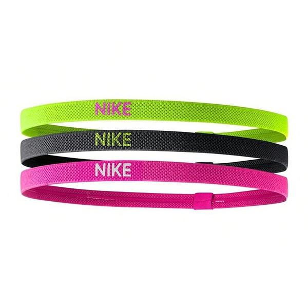 Nike Elastic Hairbands [NJN04983OS] 髮帶 髮束 運動 止滑 3入 綠灰粉