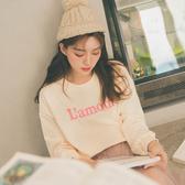 MUMU【T27027】初秋。Lamour字母長袖大學T恤。兩色
