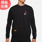 【現貨】NIKE Sportswear Essentials+ 男裝 長袖 休閒 刺繡 三勾 針織 黑【運動世界】DJ6915-010