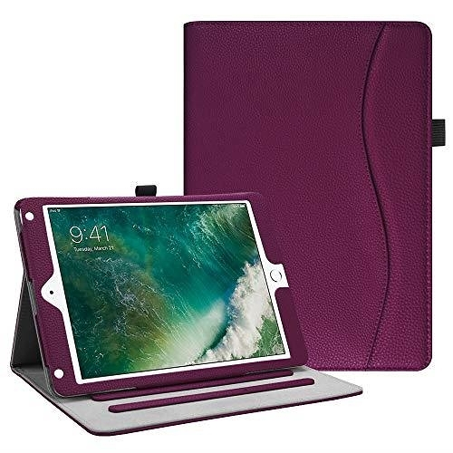 【美國代購】Fintie iPad 9.7 保護套 2018 2017   iPad Air 2   iPad Air Case- 側角保護自動喚醒 睡眠 紫色