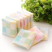 10條裝薄款方巾紗布雙層嬰兒手帕