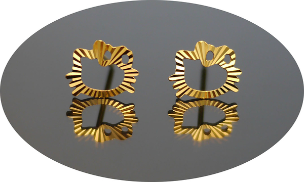 gold 黃金 耳環 金飾 保證卡 重量0.21錢 [ ge 044 ]