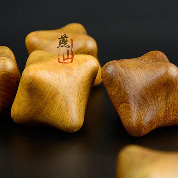 木質按摩球 保健球 六角球 棱角球 手掌穴位刺激  物理復健 孝親 實木製 【小紅帽美妝】
