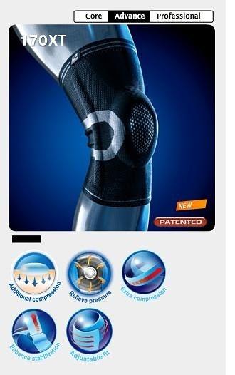 【宏海護具專家】 護具 護膝 LP 170XT 高彈性分級加壓針織護膝 (1個裝) 【運動防護 運動護具】